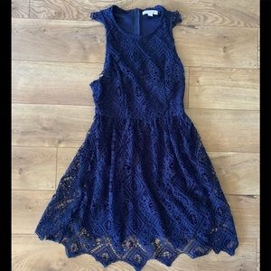 Navy Blue Francesca Sleeveless Dress Small, NEW
